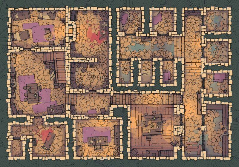 Dungeon Jail (22x16) Desert, Light
