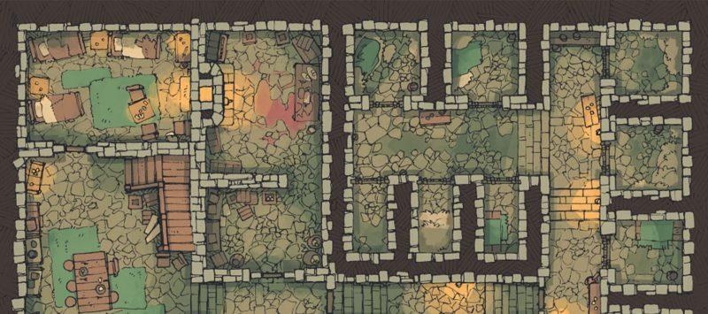 Dungeon Jail Prison Battle Map - Banner
