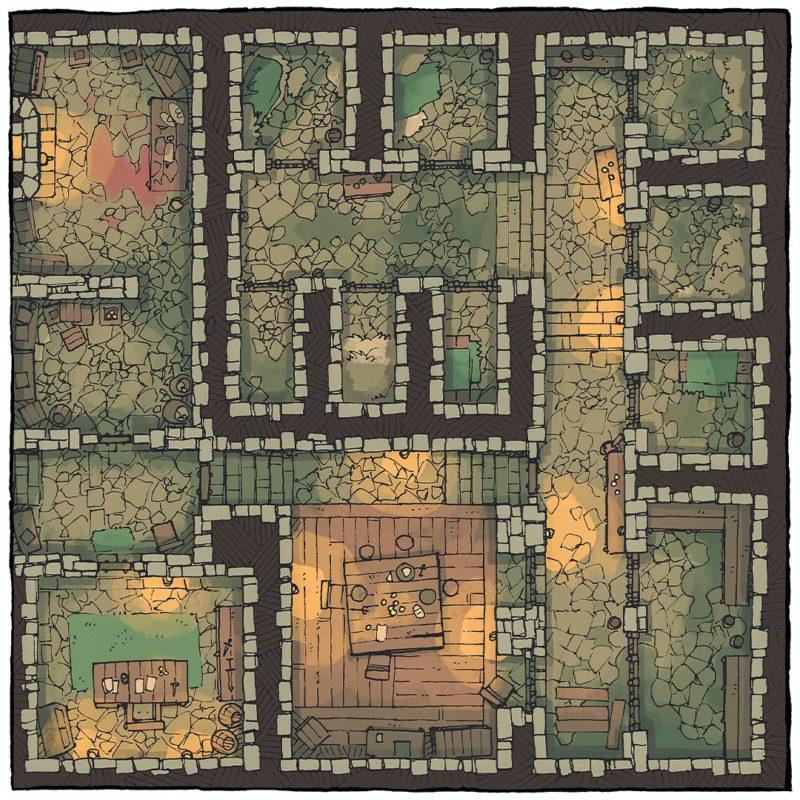 Dungeon Jail Prison Battle Map - Instagram
