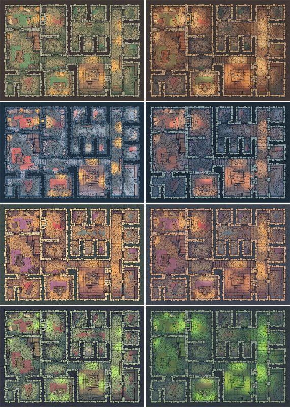 Dungeon Jail Prison Battle Map - Patreon Variants