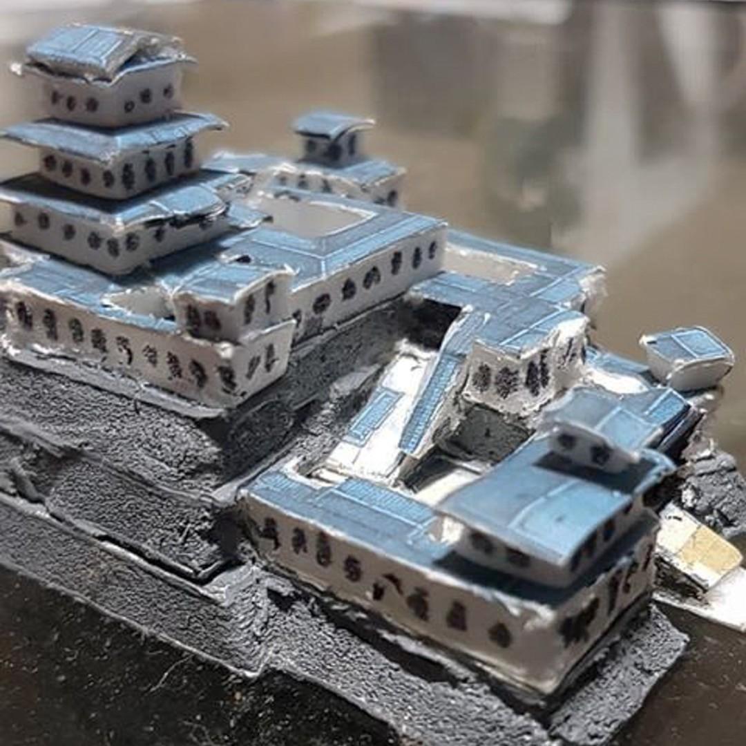 Japanese Samurai Castle Battle Map Model 4