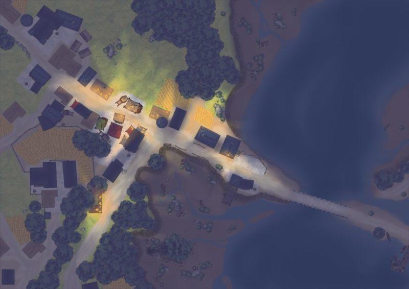 White-Wood-Village-Night-Custom-Map
