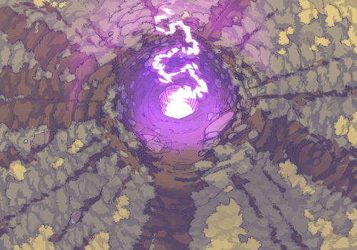 Glowing Crater (23x16) Magenta