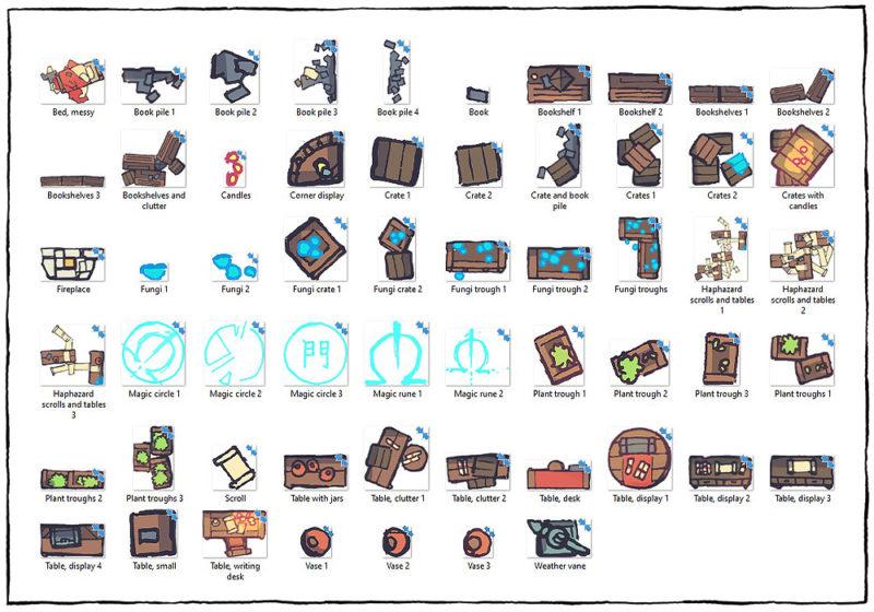 Spell Scroll Store Battle Map - Assets