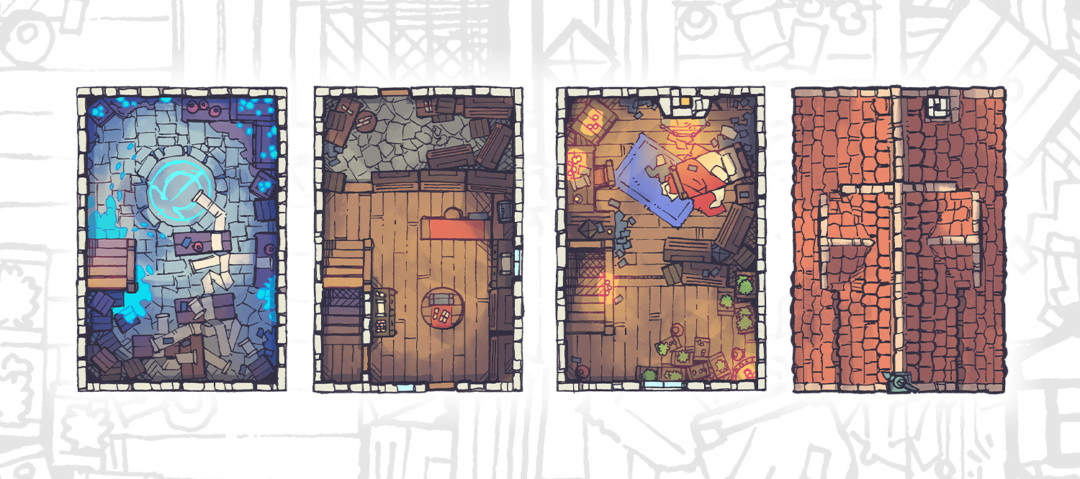 Spell Scroll Store Battle Map - Banner