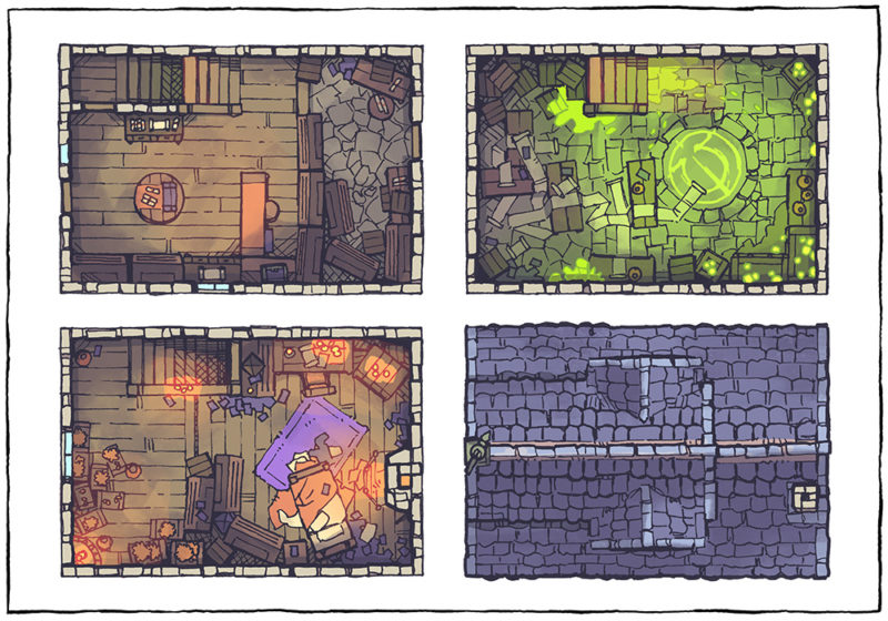 Spell Scroll Store Battle Map - Halloween, Day