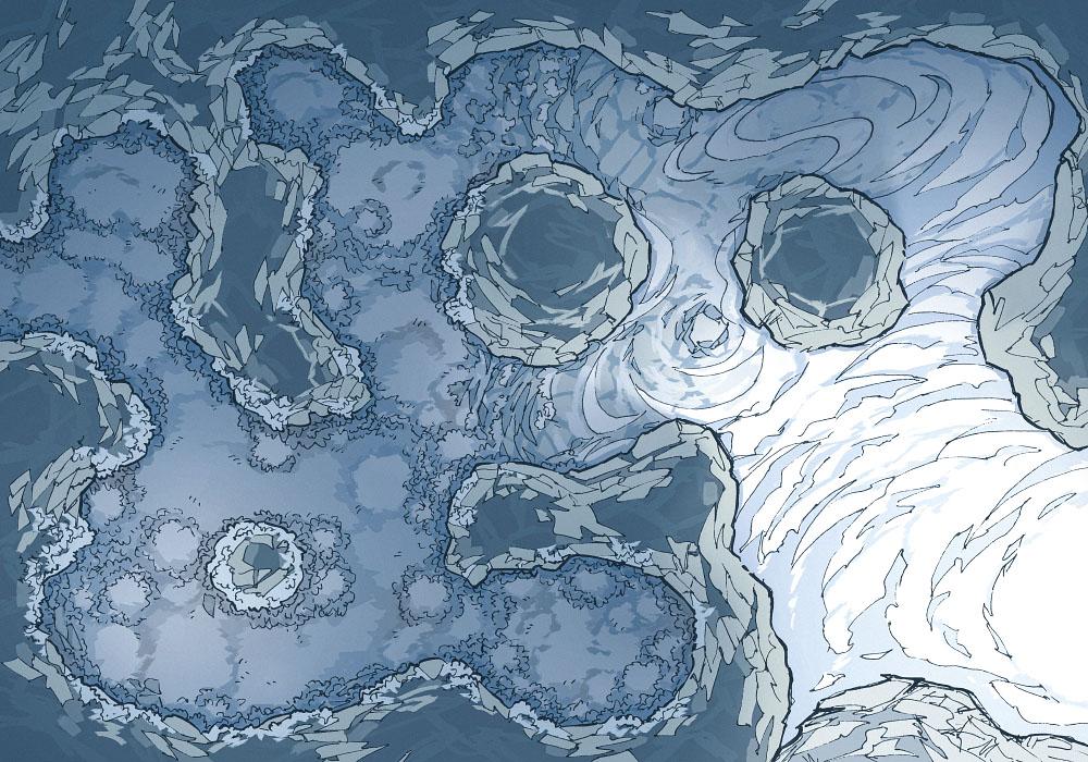 Yeti Lair (23x16) Base Map, Dark