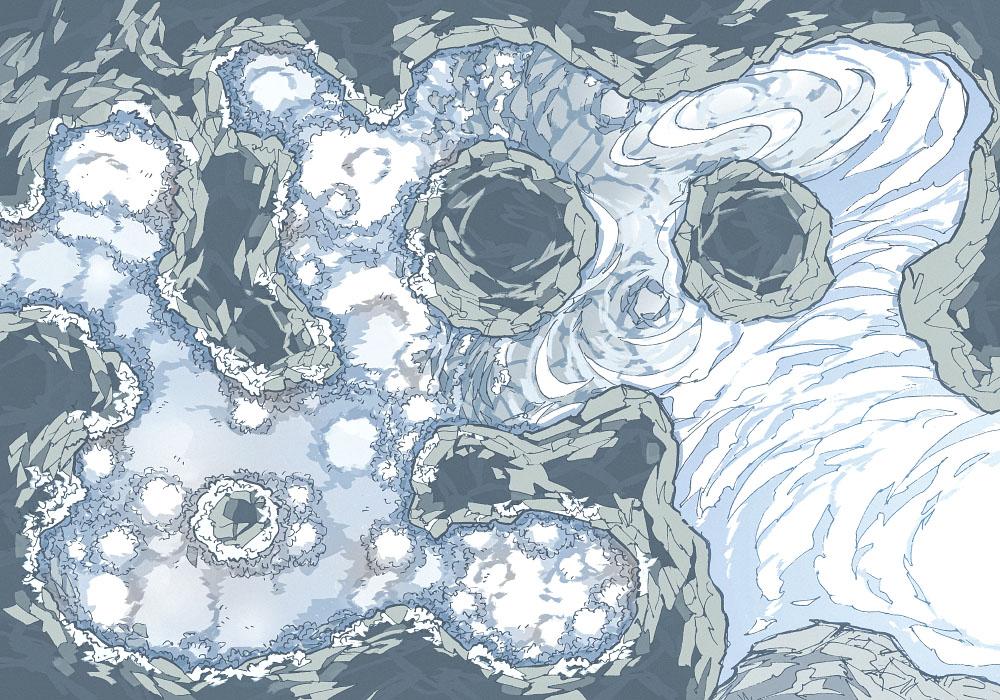 Yeti Lair (23x16) Base Map, Light