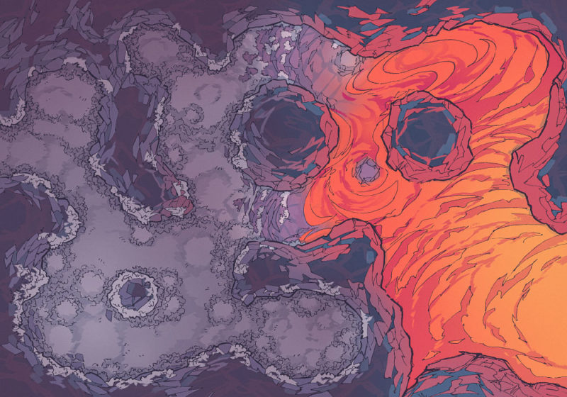 Yeti Lair (23x16) Lava, Dark