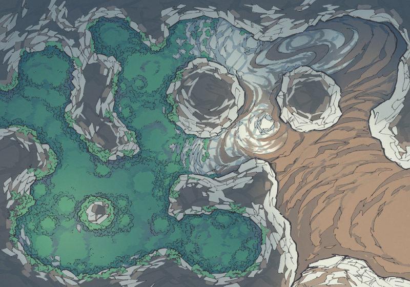 Yeti Lair (23x16) Mossy, Dark