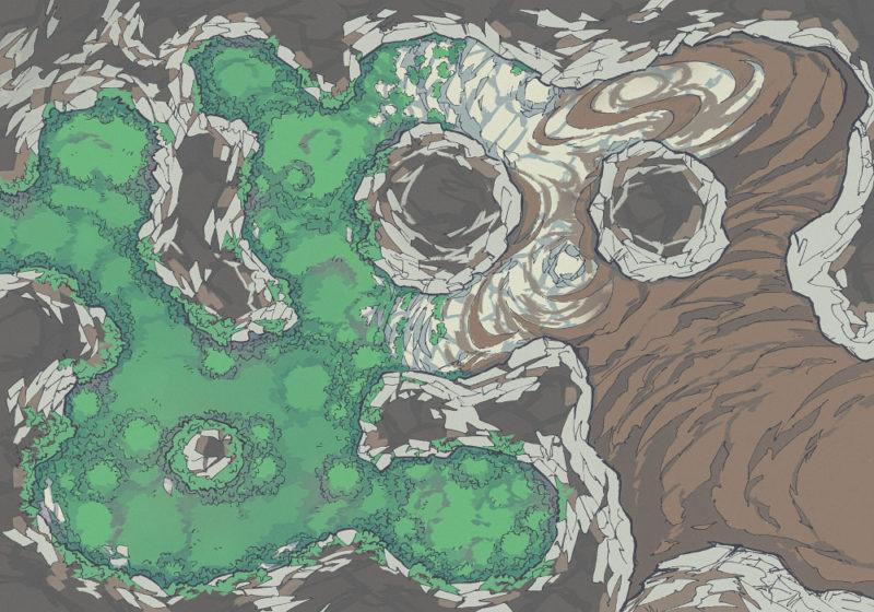 Yeti Lair (23x16) Mossy, Light