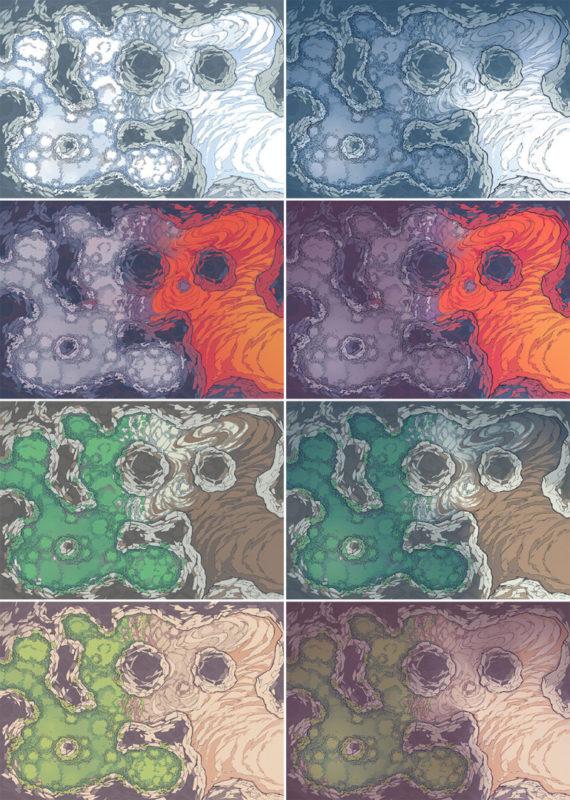 Yeti Lair Battle Map - Patreon Variants