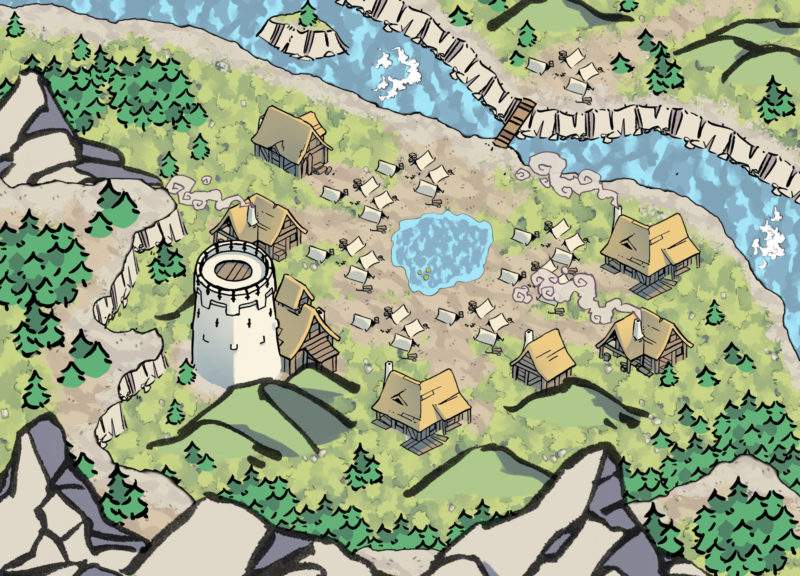 Blackblood Encampment 25x18 Map