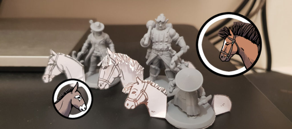 Horse Figurines & Tokens - Banner