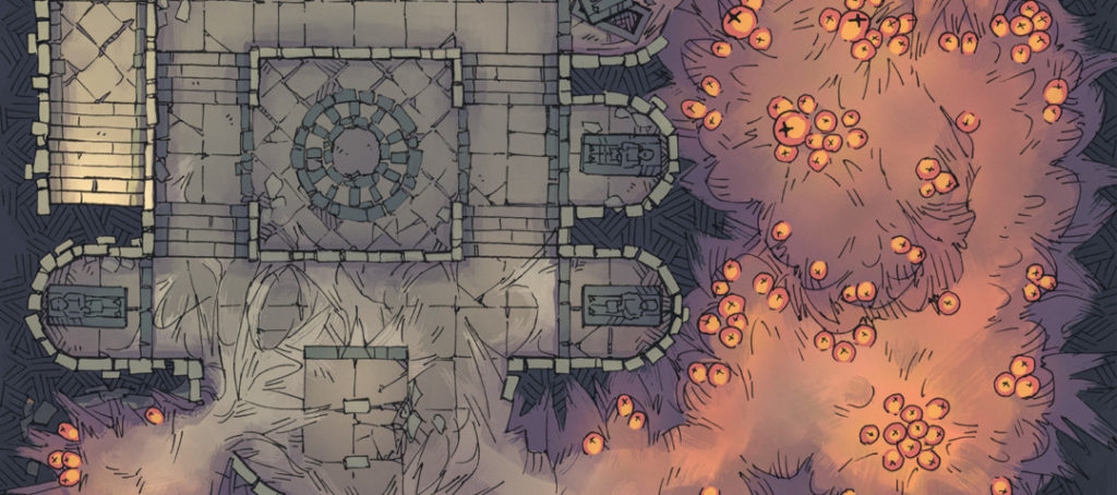 Infected Crypt Battle Map - Banner