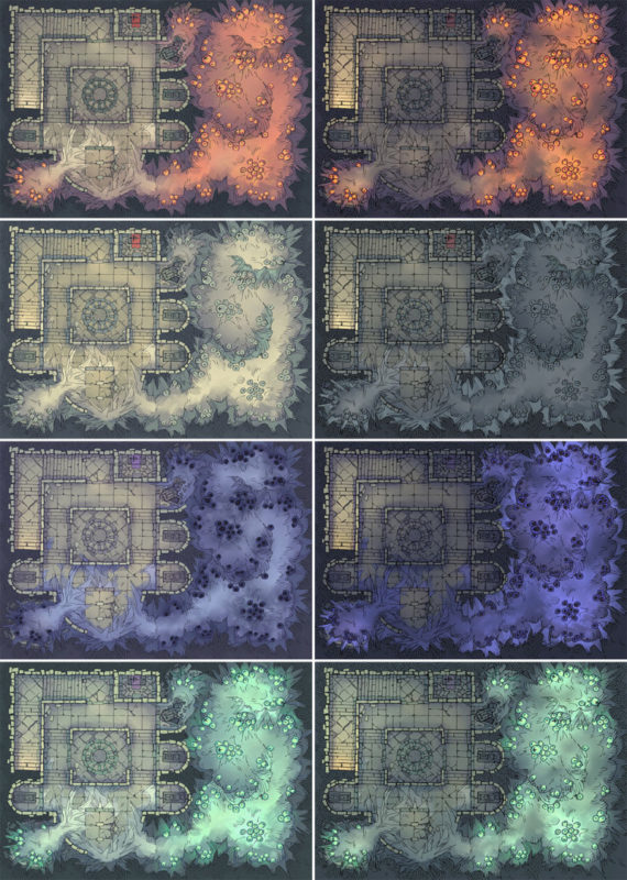 Infected Crypt Battle Map - Patreon Variants