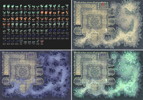 Infected Crypt Battle Map - Variants