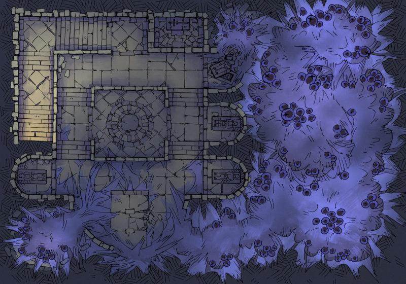 Infested Crypt - 23x16 - Void Spawn - Dark