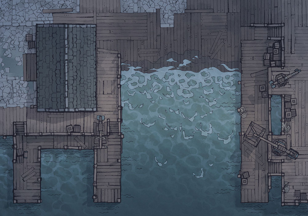 Shipyard (23x16) Base Map, Night