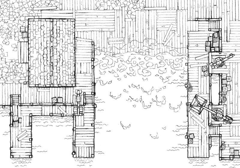 Shipyard (23x16) Line Art