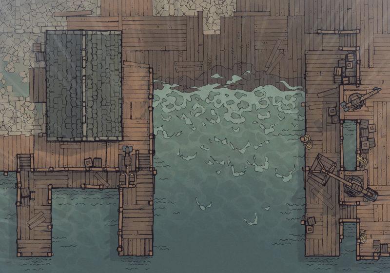Shipyard (23x16) Rain, Day