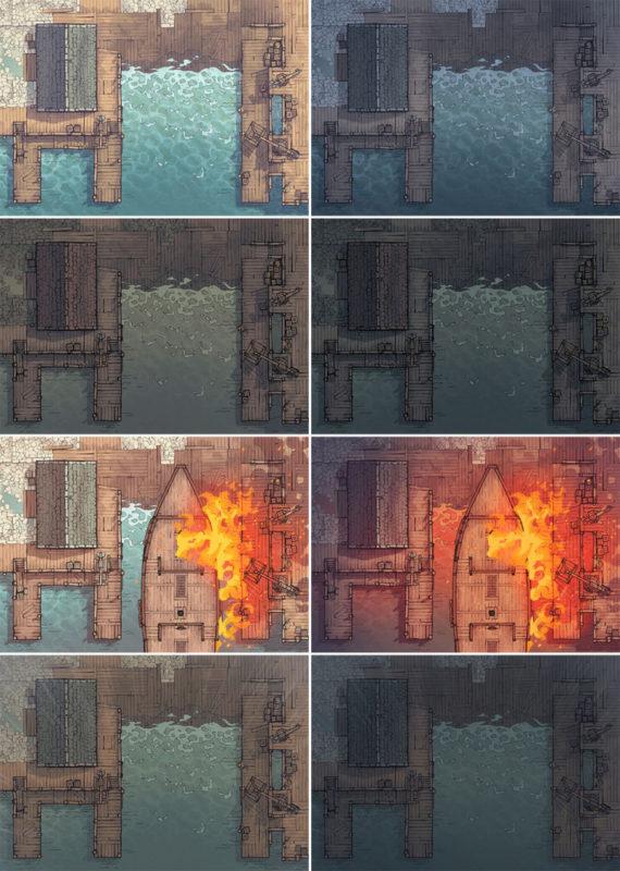 Shipyard Battle Map - Patreon Variants