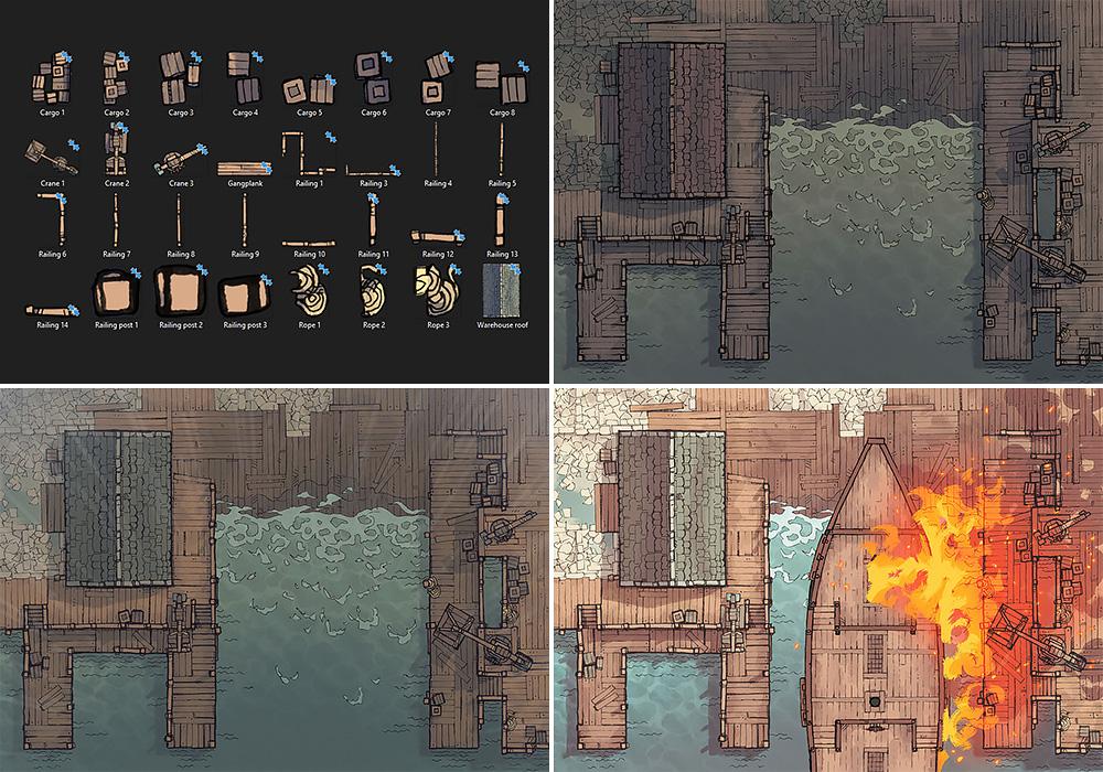 Shipyard Battle Map - Variants