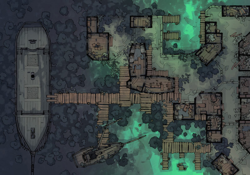 Docks of the Dead - 32x46 - Base map - Day