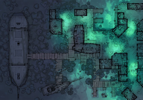 Docks of the Dead - 32x46 - Base map - Night