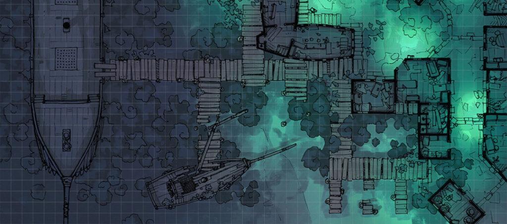Docks of the Dead battle map - Banner