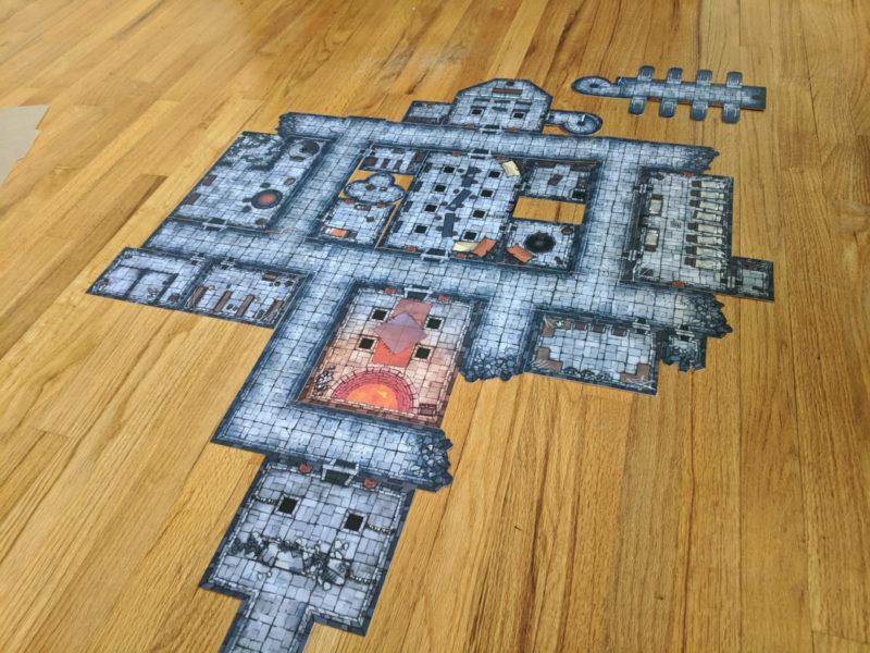 Droskar's Crucible - Crown of the Kobold King - battle map 1