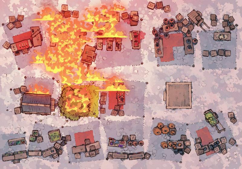 Market Festival - Ablaze - Day - 23x16