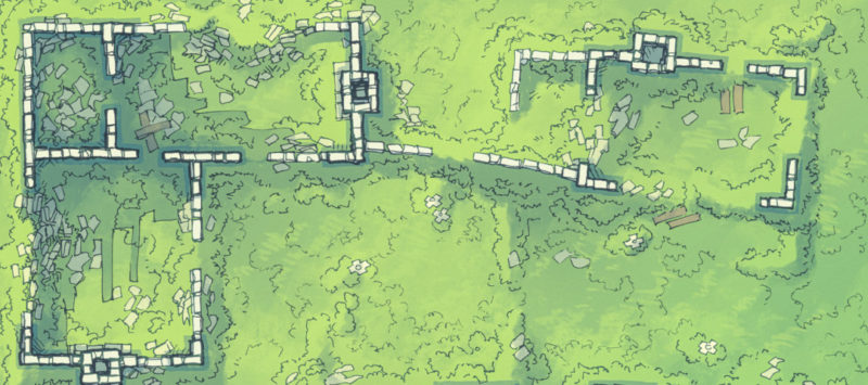 Meadow Ruins battle map - Banner