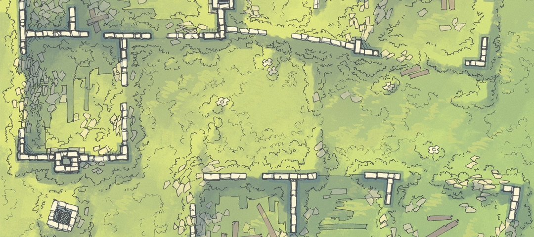 Meadow Ruins battle map - Banner preview
