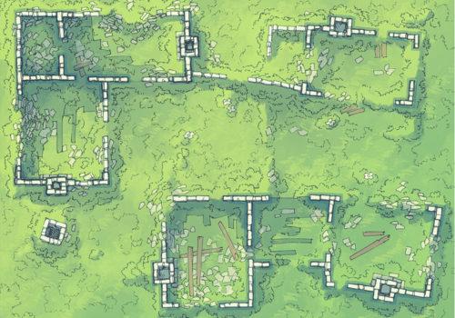 Meadow Ruins battle map - Day