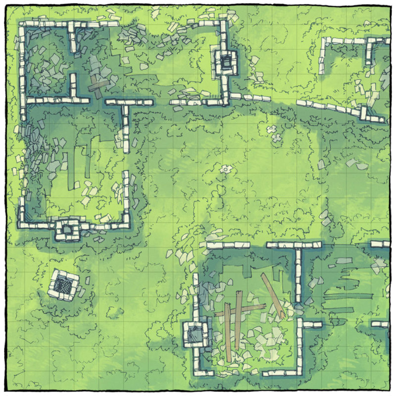Meadow Ruins battle map - Square