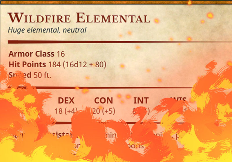 Wildfire Elemental Preview