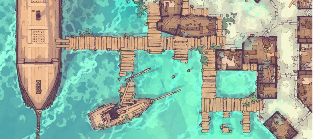 Tropical Docks of the Dead battle map - banner