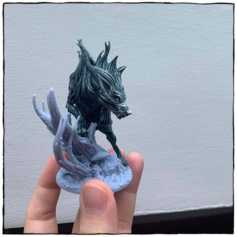 Bonus Spirit Wolf STL 3D Print File