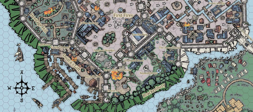 Defiance Bay city map by Nimbus - Banner