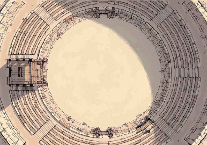 Greybanner Coliseum - Roman - Large - 22x16