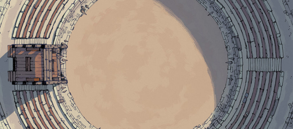 Greybanner Coliseum battle map - Banner