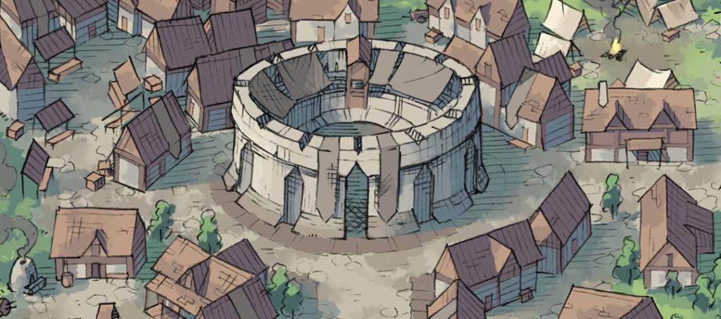 Greybanner Coliseum battle map - Banner - City