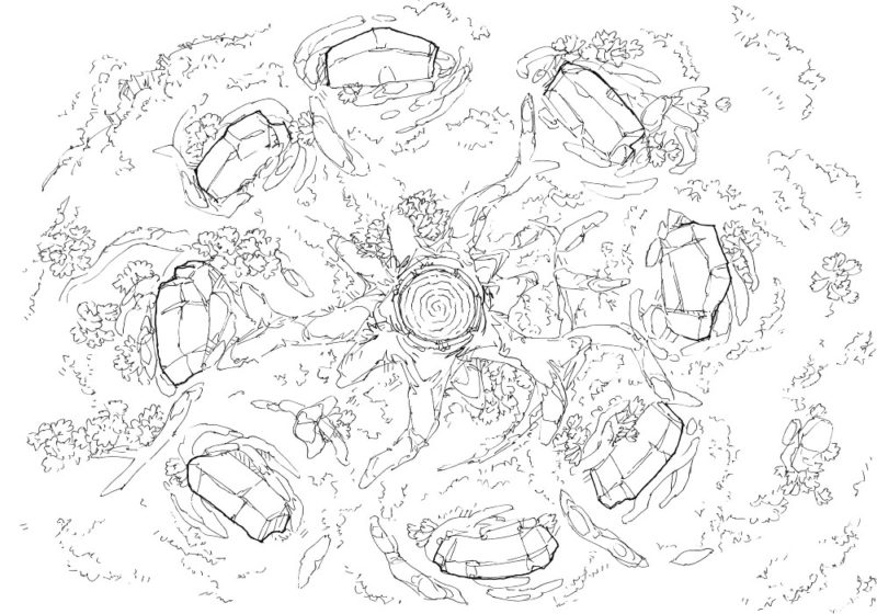Woodland Nexus - Line art - 22x16