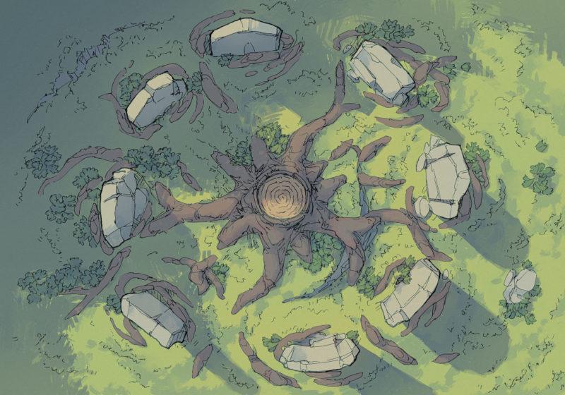 Woodland Nexus Norse battle map - Midgard - 22x16