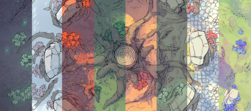 Woodland Nexus Norse battle map - Banner