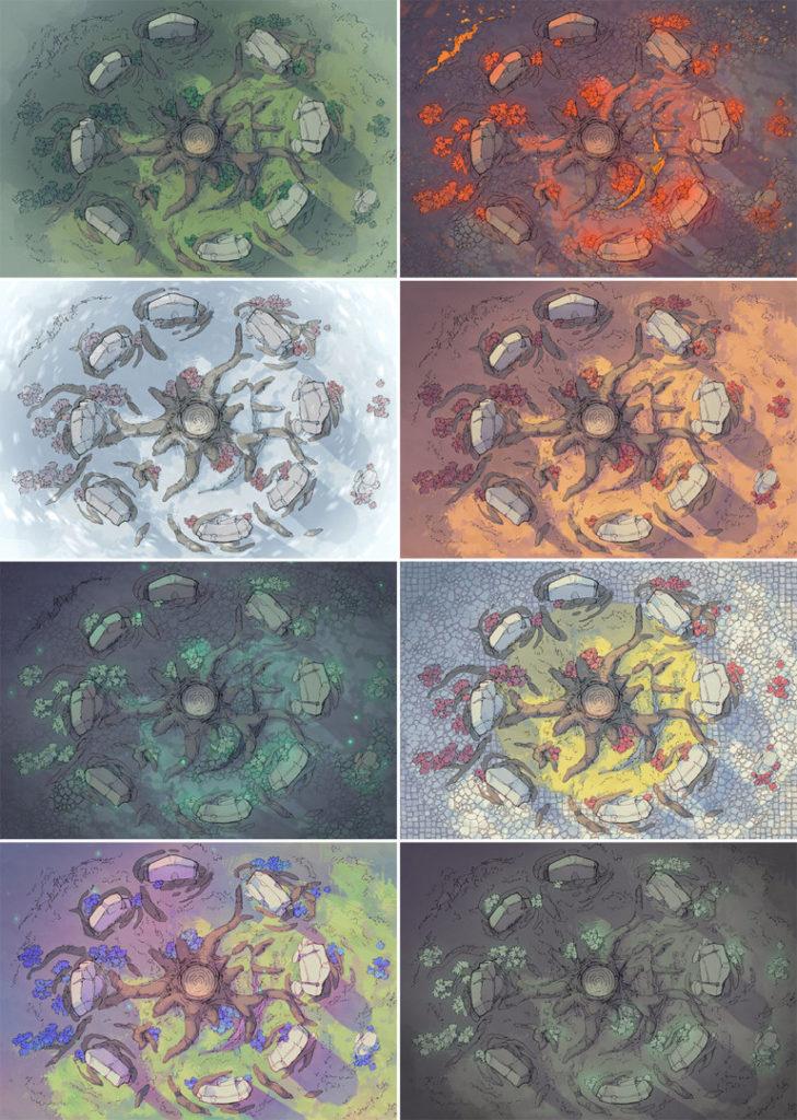 Woodland Nexus Norse battle map - Variants - Multiple
