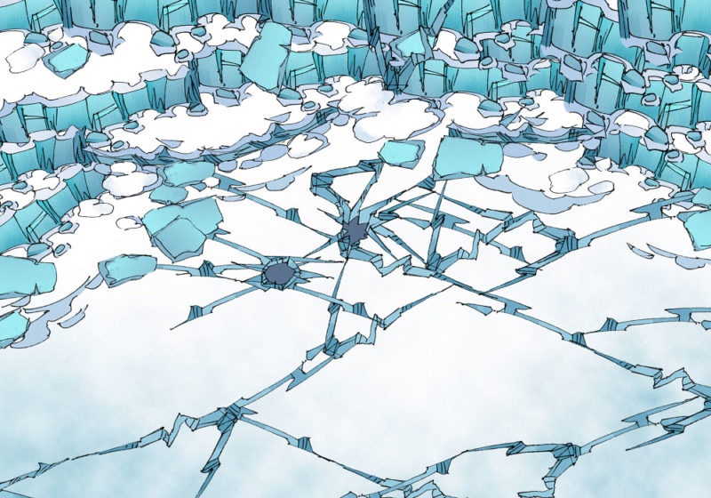 Crystal Cliffs - Day - 22x16