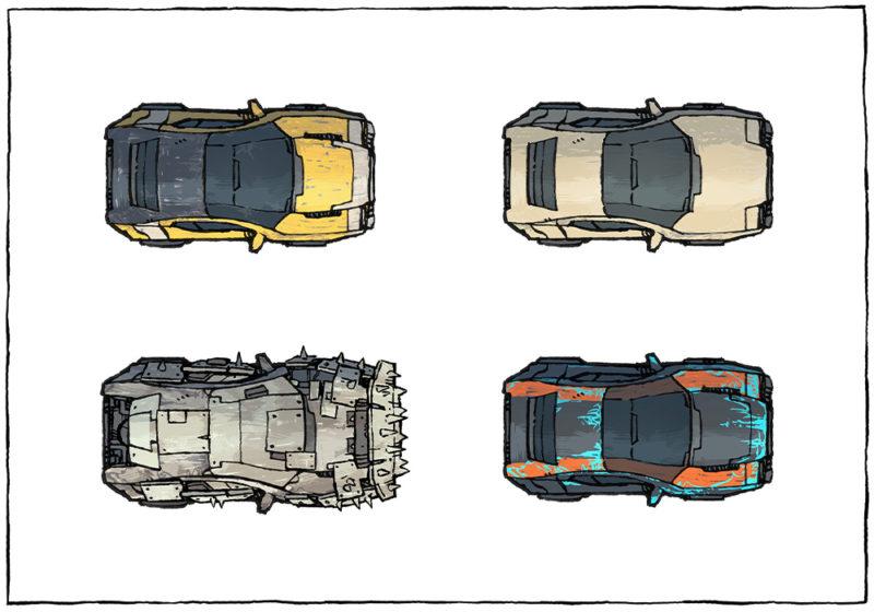 Cyberpunk Cars map assets - Base cars