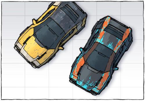 Cyberpunk Cars map assets - Preview